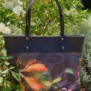 sac fleurs corail