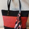 LARA - sac à main rouge et noir