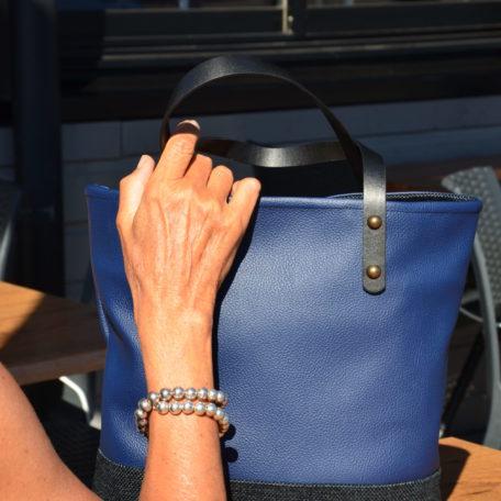 sac CLAUDIA bleu et noir
