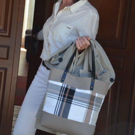sac MARIA beige et blanc